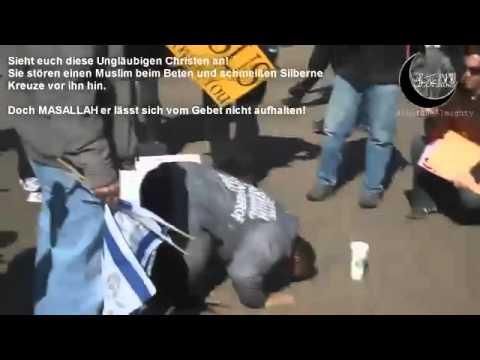 Christen belästigen Betenden Muslim!