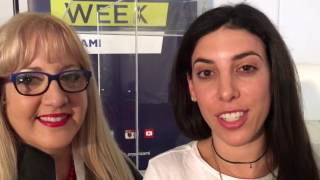 Alexa Rose Carlin at Social Media Week Miami with Lori Moreno