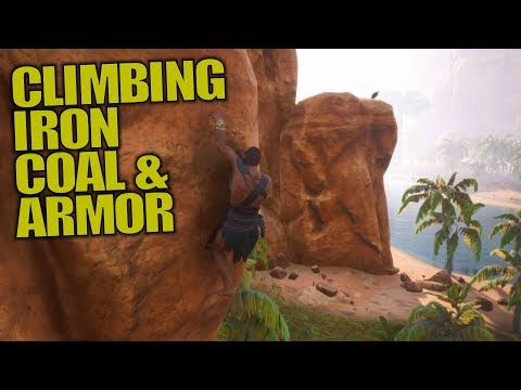CLIMBING, IRON, COAL & ARMOR | Conan Exiles | Let's Play Gameplay | S02E02