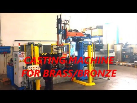Casting machine for Bronze / brass manual loading Type 2