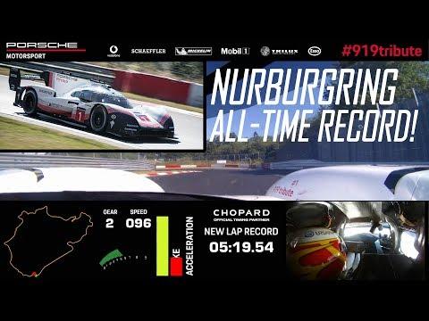 Porsche 919 Hybrid Evo sets all-time Nurburgring record - 5:19,546 min