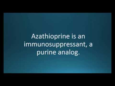 How to pronounce azathioprine (Imuran) (Memorizing Pharmacology Video Flashcard)