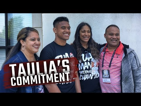 Watch as Taulia Tagovailoa, brother of Tua, commits to Alabama before A-Day 2018