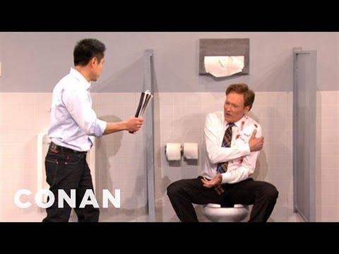 Steven Ho Shows Conan To Fend Off A Mens Room Attack - CONAN on TBS