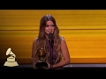 Maren Morris Wins Best Solo Country Performance | Acceptance Speech | 59th GRAMMYs