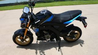 1. $3,399:  2018 Kawasaki Z125 Pro SE Candy Plasma Blue / Metallic Spark Black