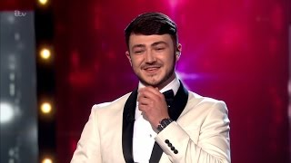 Cheeky chappie Wayne Woodward crooning on Britain's Got Talent 2016, Final.