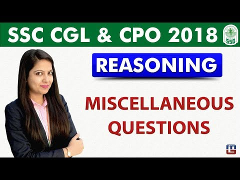 Miscellaneous Questions | Reasoning | SSC CGL | CPO 2018