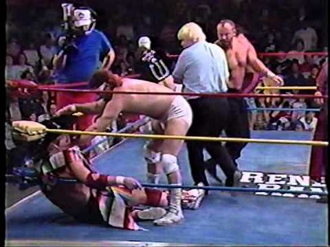 Dustin Rhodes gets attacked by the Lone Ranger and Tonto