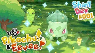 SHINY BULBASAUR and 2 OTHER SHINIES in Pokemon Let's GO! Pikachu and Eevee! by aDrive