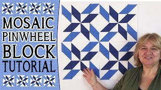 Mosaic Pinwheel Block Tutorial: In this video, you will learn how to construct the Mosaic Pinwheel Quilt Block.How to Square Up a Quilt Block - http://www.alandacraft.com/quilting-blocks-how-to-square-up-a-half-square-triangle-block/Pattern Detail here - http://www.alandacraft.com/quilting-block-tutorial-mosaic-pinwheel-blockFor a list of products used in this video click here: http://www.alandacraft.com/quilting-block-tutorial-mosaic-pinwheel-block---WATCH MORE QUILT BLOCK TUTORIALS HERE---https://www.youtube.com/playlist?list=PLMxvvtt3Z3CKZx04rEe8Vod1SP1EX767l---FOLLOW US ON---Website: http://www.alandacraft.comFacebook: http://www.facebook.com/alandacraftPinterest: http://www.pinterest.com/alandacraft/Instagram: http://instagram.com/alandacraftTwitter: http://twitter.com/AlandaCraftTumblr: http://www.tumblr.com/blog/alandacraft