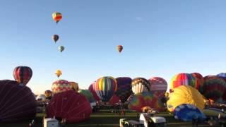 Albuquerque Balloon Fiesta 2012 Mass Ascension Time Lapse