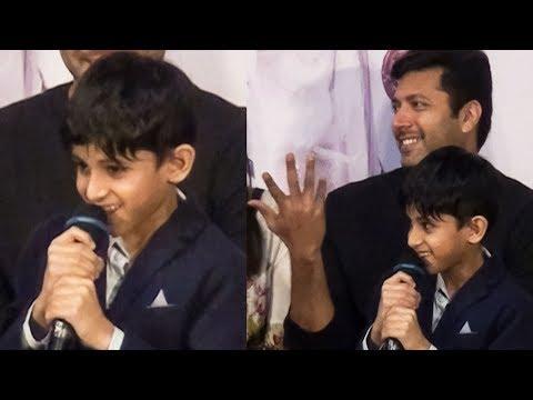 Jayam Ravi's Son Aarav Speech | Jayam Ravi Laughs Out Loud | Tik Tik Tik | TN 711