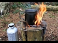 Making A Swedish Fire Torch.