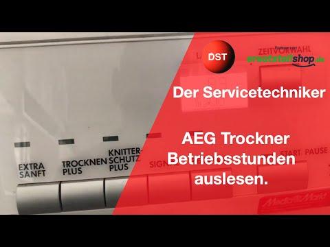 AEG Trockner Betriebsstunden auslesen