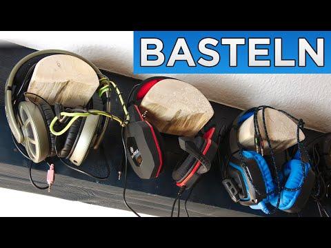 Headset und Kopfhörer Wandhalterung selber bauen - Do-It-Yourself (DIY) Halterung