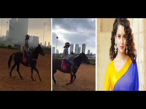 Kangana Ranaut practising horseriding For Manikarnika - The Queen of Jhansi