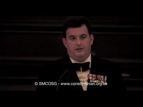 Ordine Constantiniano 2012 – Discorso del Delegato britannico e irlandese Anthony Bailey sulla fede nello Sport