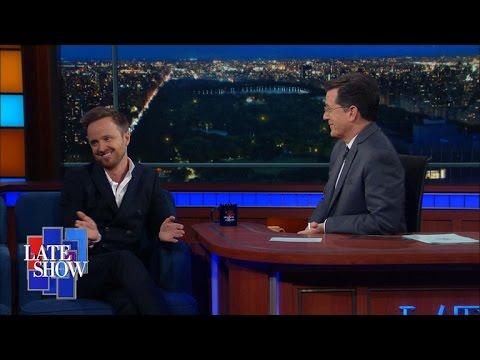 Aaron Paul u Stephena Colberta