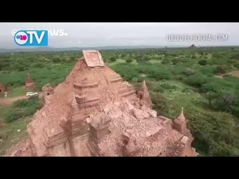 Cuatro muertos y 187 pagodas dañadas en Bagan por un seísmo en Birmania