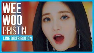 Video PRISTIN - WEE WOO Line Distribution (Color Coded) MP3, 3GP, MP4, WEBM, AVI, FLV Maret 2018