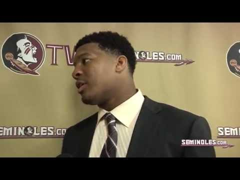Dame - Courtesy of http://www.seminoles.com: Hear from quarterback Jameis Winston following the victory over Notre Dame.