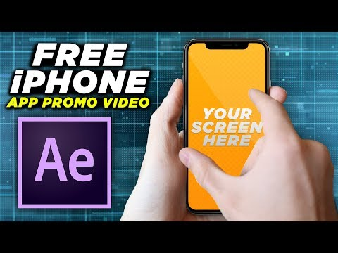 FREE IPhone App Promo Video Template | Adobe After Effects Tutorial