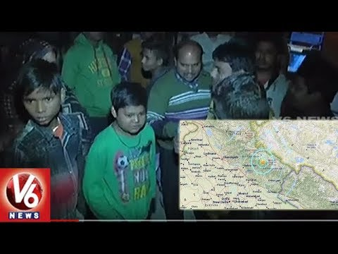 Tremors In Delhi As 5.5 Magnitude Earthquake Hits Uttarakhand | People In Panic Situation | V6 News