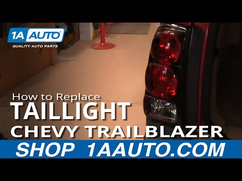 How To Install Repair Replace Fix Broken Taillight Lens or Bulb Chevy Trailblazer 02-09 1AAuto.com