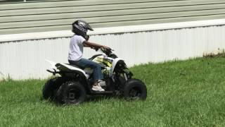 7. Kayden on his 2017 yamaha Raptor 90