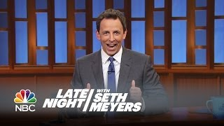 Seth's Story: Stephen Colbert Taking Over For Letterman - Late Night With Seth Meyers