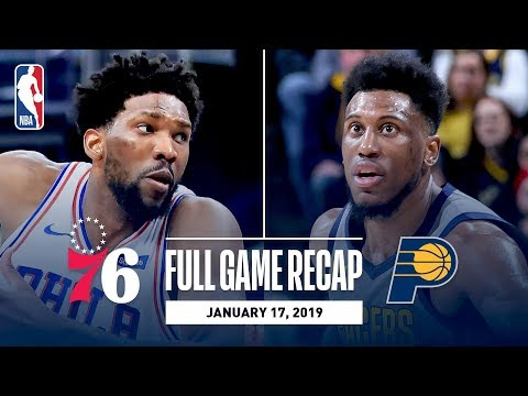 Video: Full Game Recap: 76ers vs Pacers | Embiid & Butler Stuff The Stat Sheet