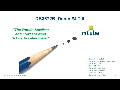 DB3672B Demo #4 Tilt (Pitch and Roll)