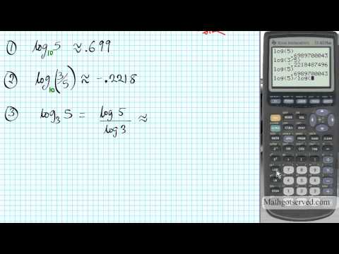 TI 83 Tutorial Entering Logarithms Evaluating and Graphing