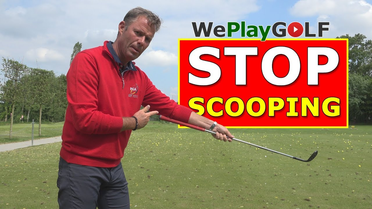 Stop scooping the ball - Very good exercise to avoid scooping the golf ball while you chip