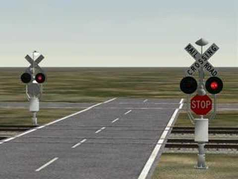 Griswold Rotating Stop Sign Train Sim demo.