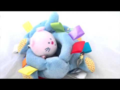 Taggies Blue Elephant Rattle Chime Vibrating Plush Toy Infant Stuffed