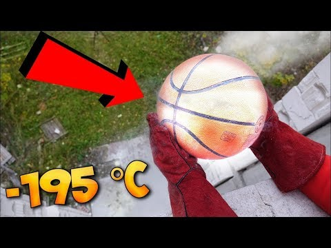 Experiment — Liquid Nitrogen vs Basketball!! Insane 5th floor drop test!