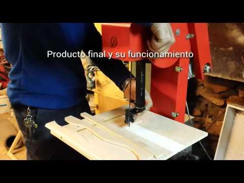 sierra de sinta sin fin - sierra de cinta hecha a partir de una bici estatica y piezas recicladas.