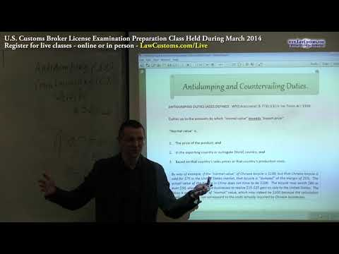 Part 1: Antidumping & Countervailing Duties (March 2014 Lecture)