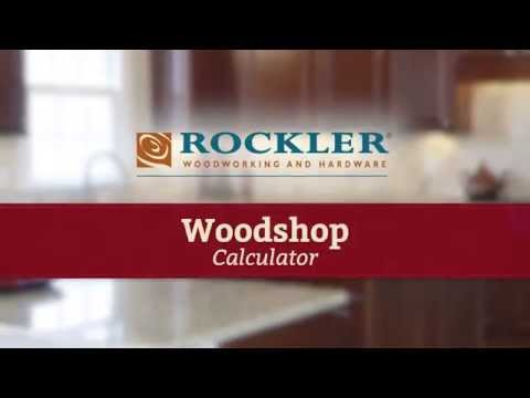 Woodshop Calculator for Making Cabinet Doors