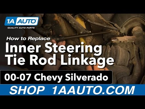 How To Install Replace Inner Steering Tie Rod Linkage Chevy Silverado GMC Sierra 00-07 1AAuto.com