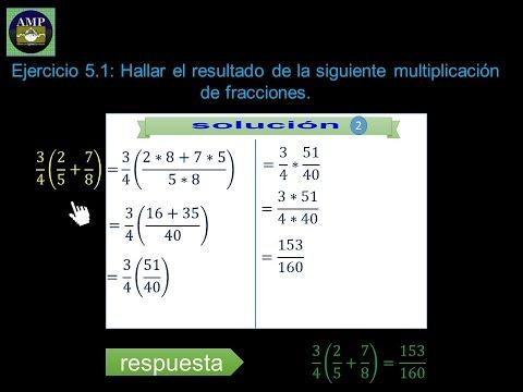 Aprendiendo Matemáticas: suma y multiplicacion de fracciones aritméticas