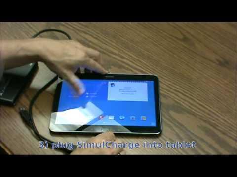 Attaching an external USB hard drive to a Samsung Galaxy Tab 4