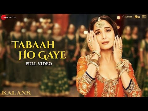Tabaah Ho Gaye - Full Video | Kalank | Madhuri, Varun & Alia | Shreya | Pritam | Amitabh | Abhishek