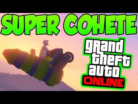 SÚPER COHETE EN GTA 5 ONLINE!! - Hackers GTA 5 Online 1.15 - Hackers GTA V Online 1.15 #3 (видео)