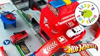 Cars for Kids   Hot Wheels Toys and Fast Lane Fire City Playset - Fun Toy Cars for Kids