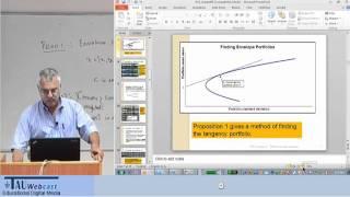 Lecture 2:  Computing Efficient Portfolios