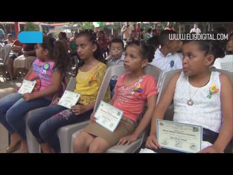 Infantes y Adolescentes de la Comarca Las Flores reciben diplomas