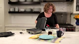 Belgian Waffle Maker with Pancake Plates Demo Video Icon